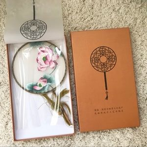 Chinese Handmade Embroidery Silk Fan